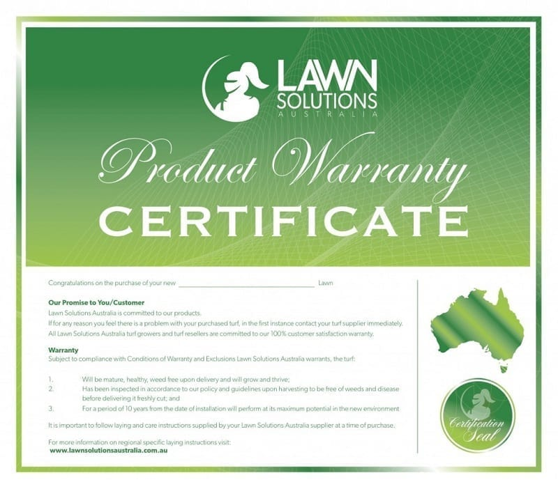 LSA Product Warranty Certificate