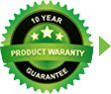 10 Year Product Warranty Guarantee